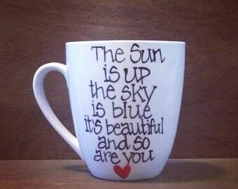 The Beatles - Dear Prudence Lyrics Coffee Mug