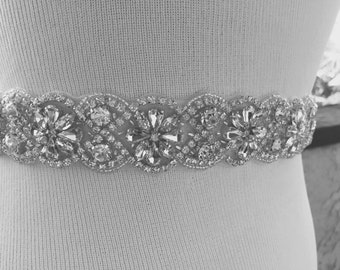 Wedding Belt, Bridal Belt, Sash Belt, Crystal Rhinestone,Luxury Bridal Sash