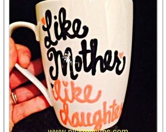 Like mother like daughter coffee mug We love you, Mom Coffee mug - Mother's Day Mug Mom you're way cooler than dad - Mother's Day mug fami
