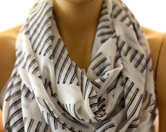 Silk chiffon scarf. Fashion infinity scarf, Loop scarf, Circle scarf, Women Scarf, Gift, ocean scarf, scarves, boho, bohemian, fashion
