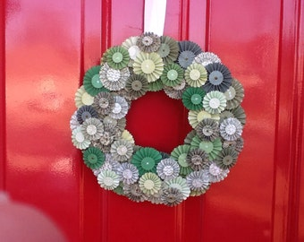 12 Inch Glorious Green St. Patrick's Day Wreath  Greens