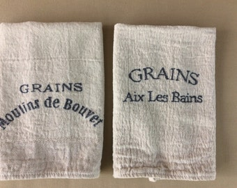"Grain sack Inspired Kitchen Towels-set of 2  (15""x18"")"
