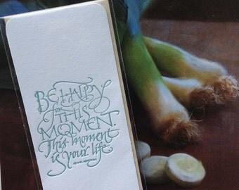 Literary Calligraphic Letterpress Bookmark