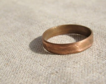 His and her ring set, rustic copper set of rings, Alternative Wedding Bands, Matching Couple Rings