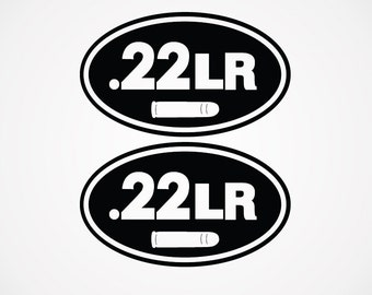 22LR Ammo Can Decal   Set of 2