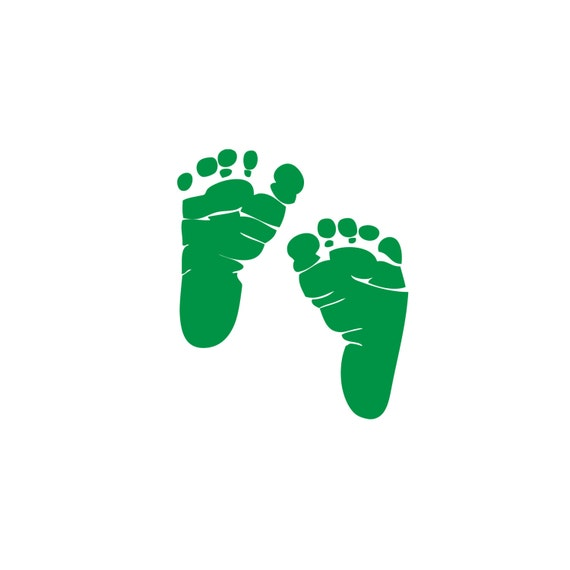 Items similar to 10 Sets of Leprechaun Feet - Green Baby ...