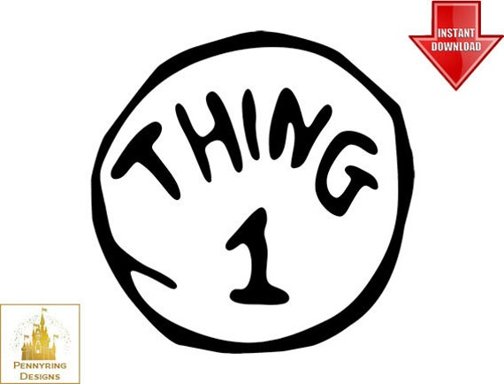 Lucrative image with regard to thing 1 and thing 2 logo printable