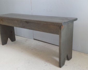 Wood Bench / Grey Bench / Primitive Bench