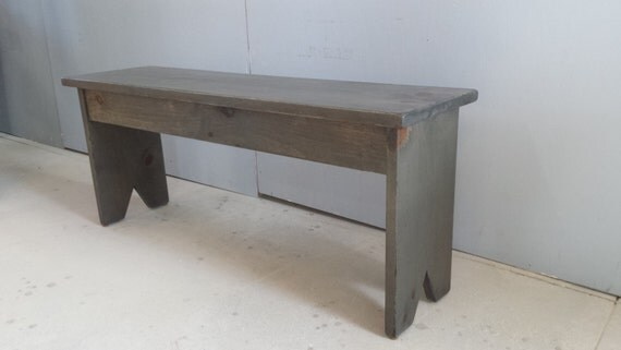 Items Similar To Wood Bench Grey Bench Primitive Bench On Etsy