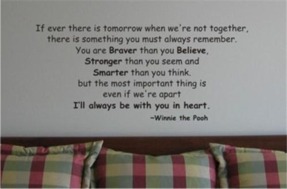 Braver Stronger Smarter. Winnie The Pooh Wall Decal