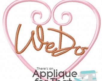 We Do Marriage, Wedding Applique Design