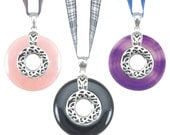 Tartan Twist Mountain Gem Pendants