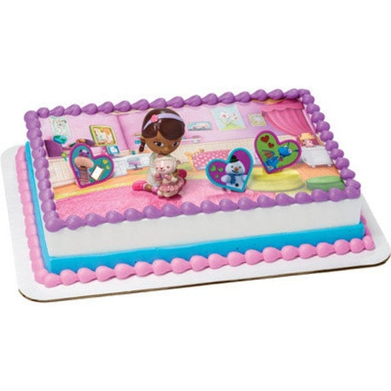 Doc Mcstuffins Cake Decorating Kit : Doc McStuffins Background Edible Image Cake by ABirthdayPlace