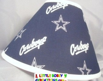 NFL Dallas Cowboys Fabric Lamp Shade (10 Sizes to Choose From)