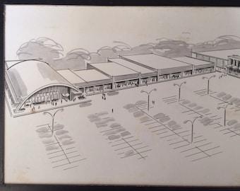 Ridgemont Plaza , Greece , New York , Original Architectural Drawing