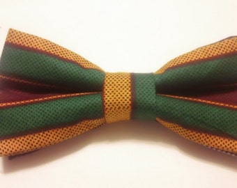 Kente Bow Tie Black gives you that accent of Africa that will catch attention anywhere