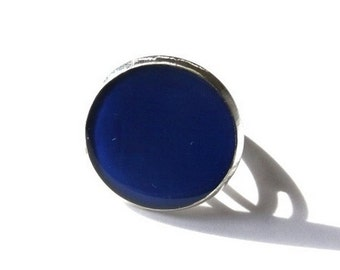 DARK BLUE RING - blue ring - Night Sky ring - Navy ring - navy jewelry - dark blue jewelry - dark navy blue ring - adjustable