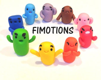 Fimotions - a Miniature Polymer Clay Emotions Game - Figurine Kawaii Style Characters