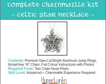 Celctic Star Pendant HyperLynks Chainmaille Kit