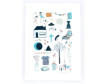 Watercolour Art Print - Nice Things