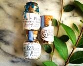 Custom Listing for Lauren: 27 Washi Tape Customized Wildflower Seed Favors in Glass Bottles, plus custom design