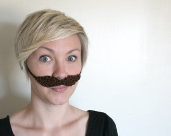 7 Colors! Crocheted Mustache (Child/Adult)