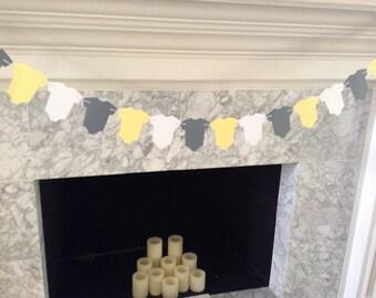 Yellow and Gray Baby Shower Decor, Baby Shower Decor, Baby One-Piece Garland, Yellow and Gray Baby Garland, Yellow and Gray Baby Banner