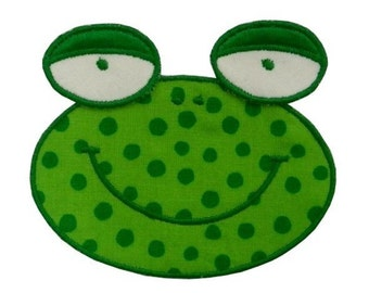 Frog Applique - Machine Embroidery Design 3D