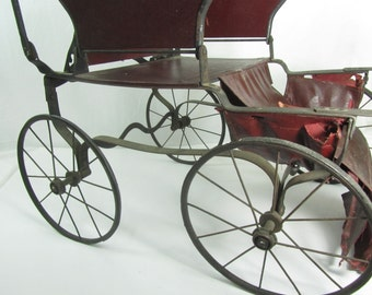 Antique Baby Carriage, Bloch Go Cart, Victorian Carriage, Baby Buggy, Photo Prop, Philadelphia Baby Carriage Factory