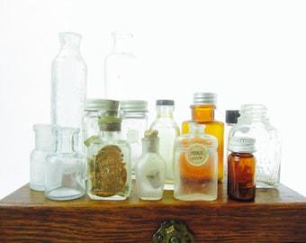 Antique bottles, vintage bottles, small bottles, bottle collection, perfume bottle,apothecary,