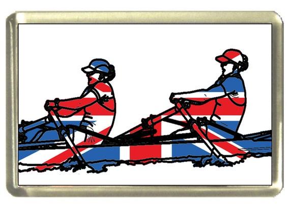 Union Jack Flag Rower Fridge Magnet 7cm by 4.5cm,