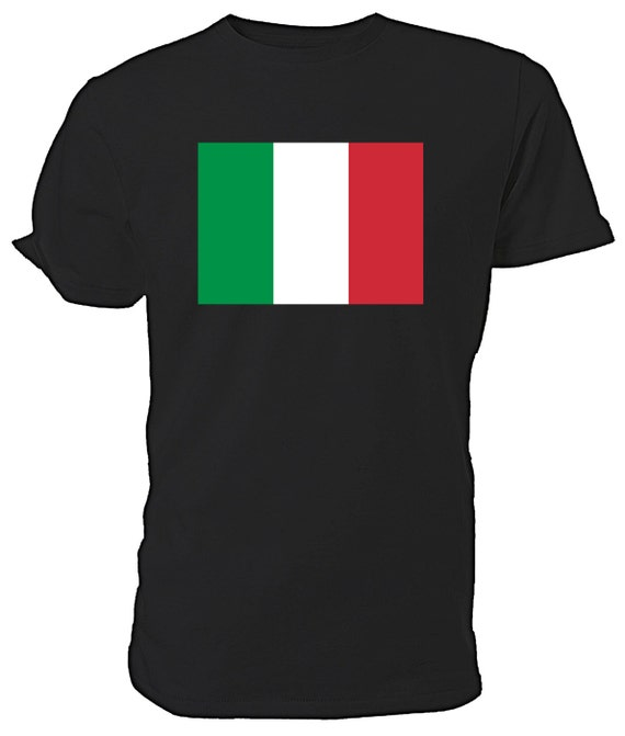 Italian Flag T shirt. classic round neck short sleeved choice of sizes and colours,