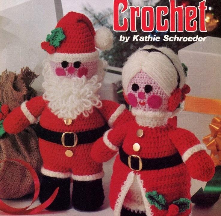 Sale Crochet Santa Dolls Pattern Leaflet Mr And Mrs