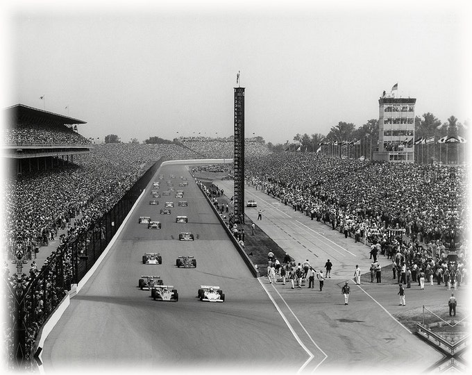39x50 1972 Indianapolis Motor Speedway race car photo