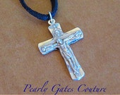 BOY'S FIRST Communion Gift-Personalized Confirmation Gift-Suede Necklace-Religious Gifts-Christian Gifts-Graduation-Birthday Christian Gifts