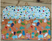 SALE: Infant Changing Pad/ Diaper Clutch- In the Ocean Fish and Dots