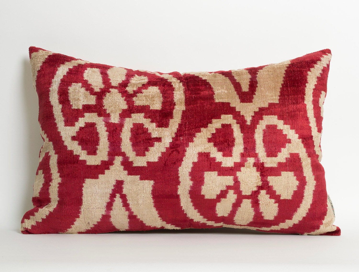 Ikat Throw Pillow Covers : Ikat Pillow Covers Maroon Red-Terra Cotta Accent Pillow
