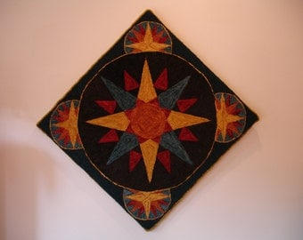 Mariners Compass Rug Hooking Pattern
