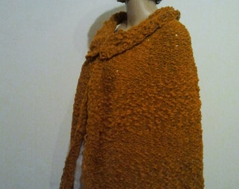 Brown knitted Cape
