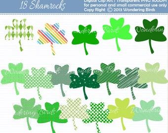 50% OFF Shamrock Clipart - Digital Clip Art  - Instant Download - shamrock clip art - shamrock - St. Patricks day
