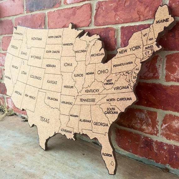 Us Wall Map Cork Board - Corkboard us map