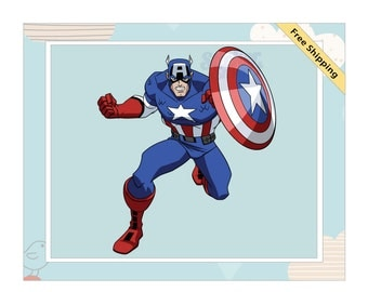 Captain America Children's Removable Wall Decal