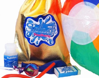 Pool Party Party Bags with 7 great items inside