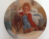 Annie and Sandy vintage collectors plate Knowles limited edition