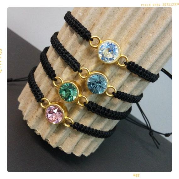 Swarovski crystal bracelet macrame, Swarovski bracelet, crystal bracelet, macrame bracelet, gift for her