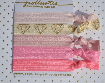 The Blushing Bride Hairtie Set
