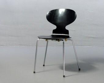 RARE from 1967: Arne Jacobsen Ameise 3101 Fritz Hansen 1967 Chair Chaise Ant Fourmi