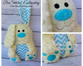Flopsy Bunny - Rabbit Softie - Embroidery Design - 4x4 5x7 6x10 7x10 8x12 instant download