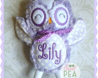 Personalized Owl Stuffie