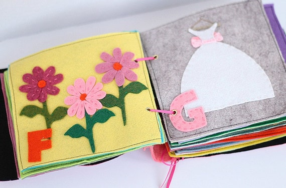 Felt Book Cover Pattern ~ Felt quiet book pattern alphabet for girls toddler toy